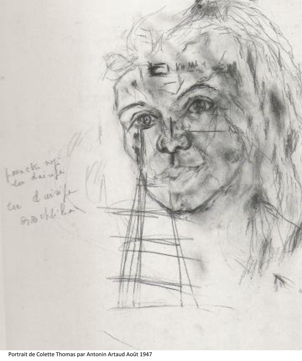 Portrait de Colette Thomas par Antonin Artaud